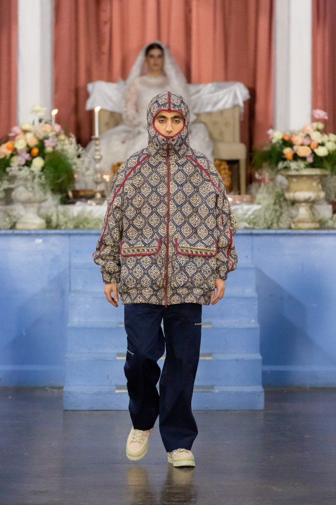 Central Foundation Boys' School, London UK. 4th January 2020. paria /FARZANEH shows her Autumn Winter 2020 designs at her catwalk show. © Maja Smiejkowska