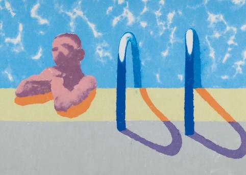 David Hockney, Gregory in the Pool, 1978