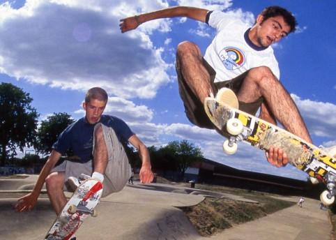 10.-Matt-Anderson-and-Mike-Manzoori-Frontside-Over-The-Bollocks-Harrow-Skatepark-1995-©-Wig-Worland