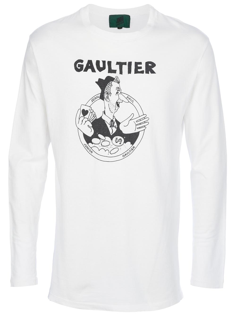 Junior Gaultier printed long sleeve t-shirt