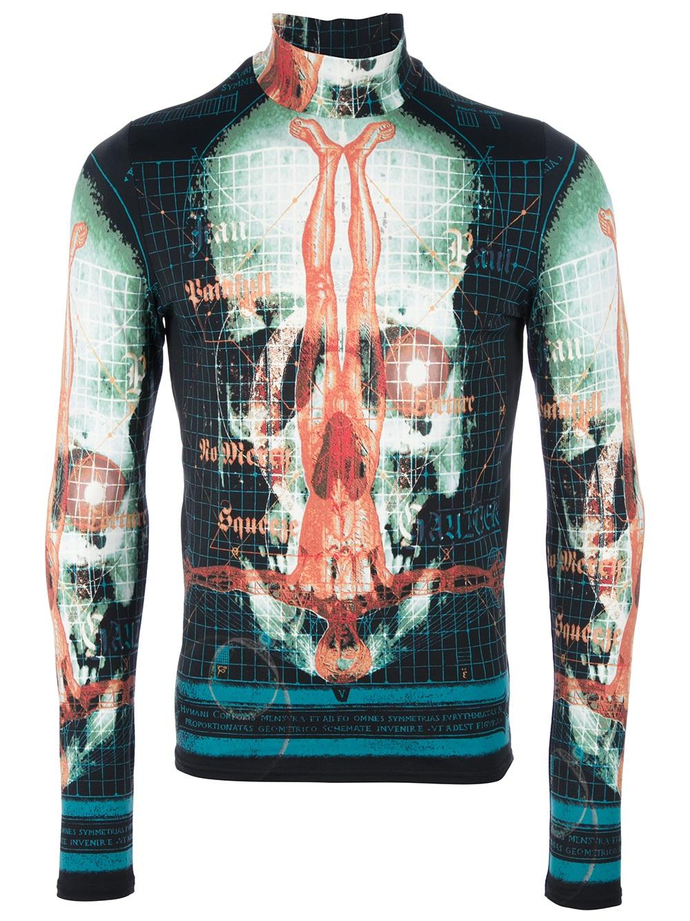 Jean Paul Gaultier skull print top