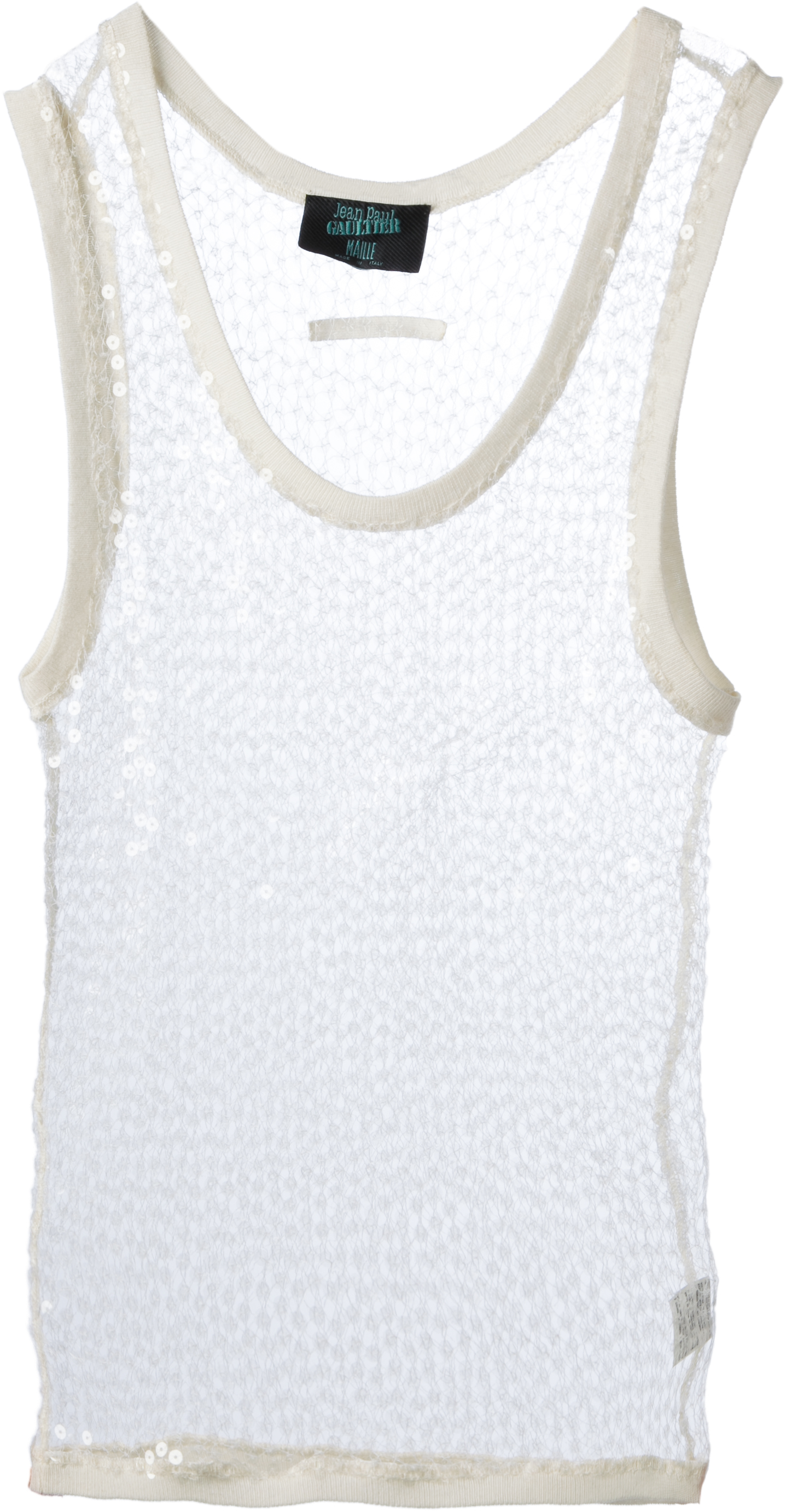 Jean Paul Gaultier sequin vest from SS90 collection, Rap'sody in Blue