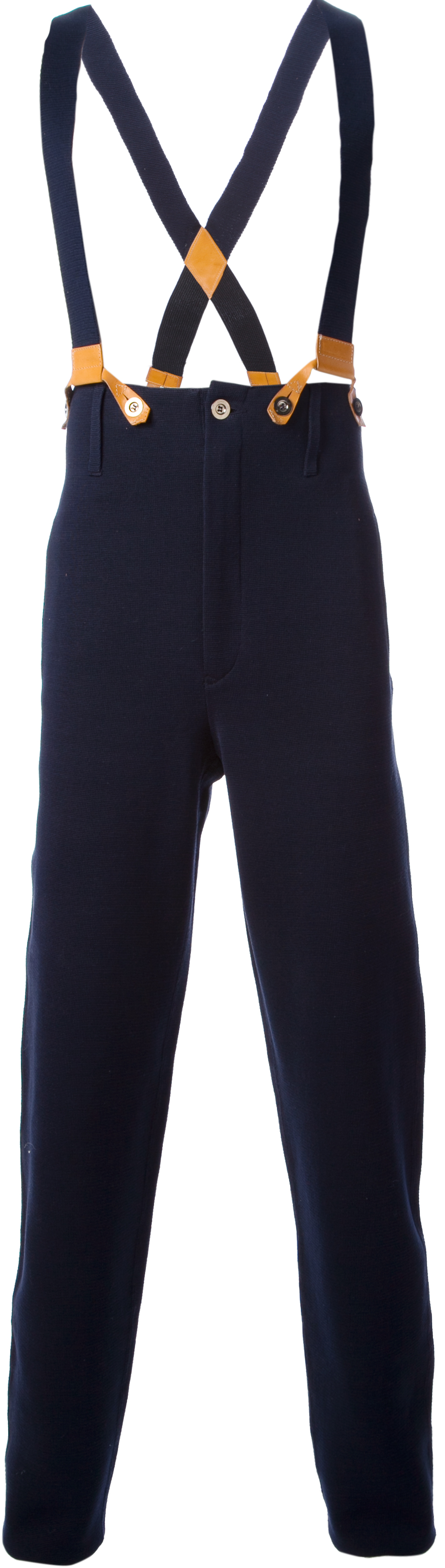 Jean Paul Gaultier dungaree trousers from SS84 collection, L'homme-Object