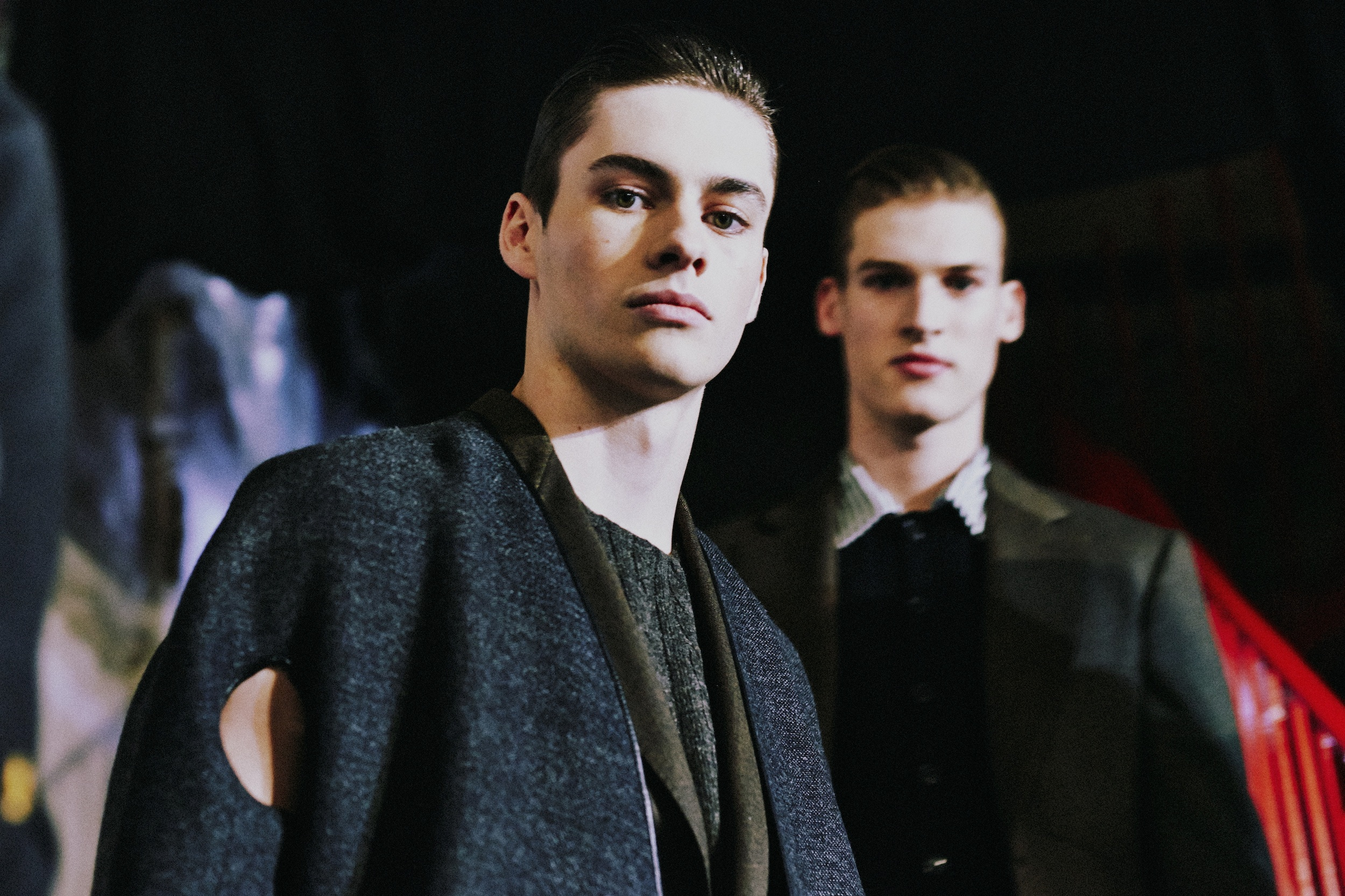 1 LCM AW14 HERO MAGAZINE HARRY CARR BACKSTAGE CERUTTI FW14 CATWAL LOOK