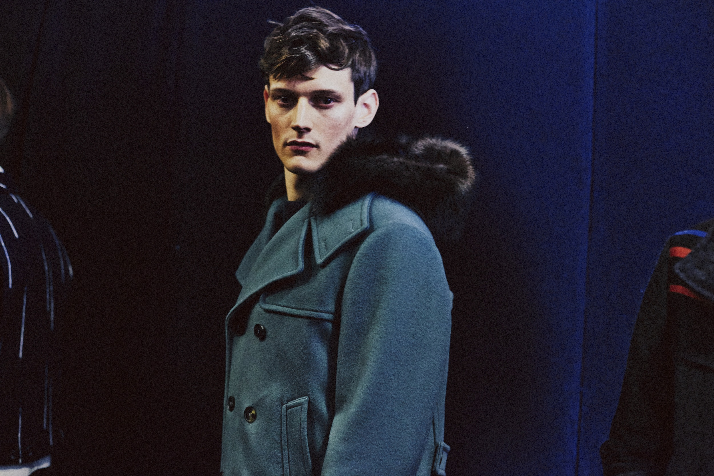 33 LCM AW14 HERO MAGAZINE SALVATORE FERRAGAMO BACKSTAGE HARRY CARR FW14 Look