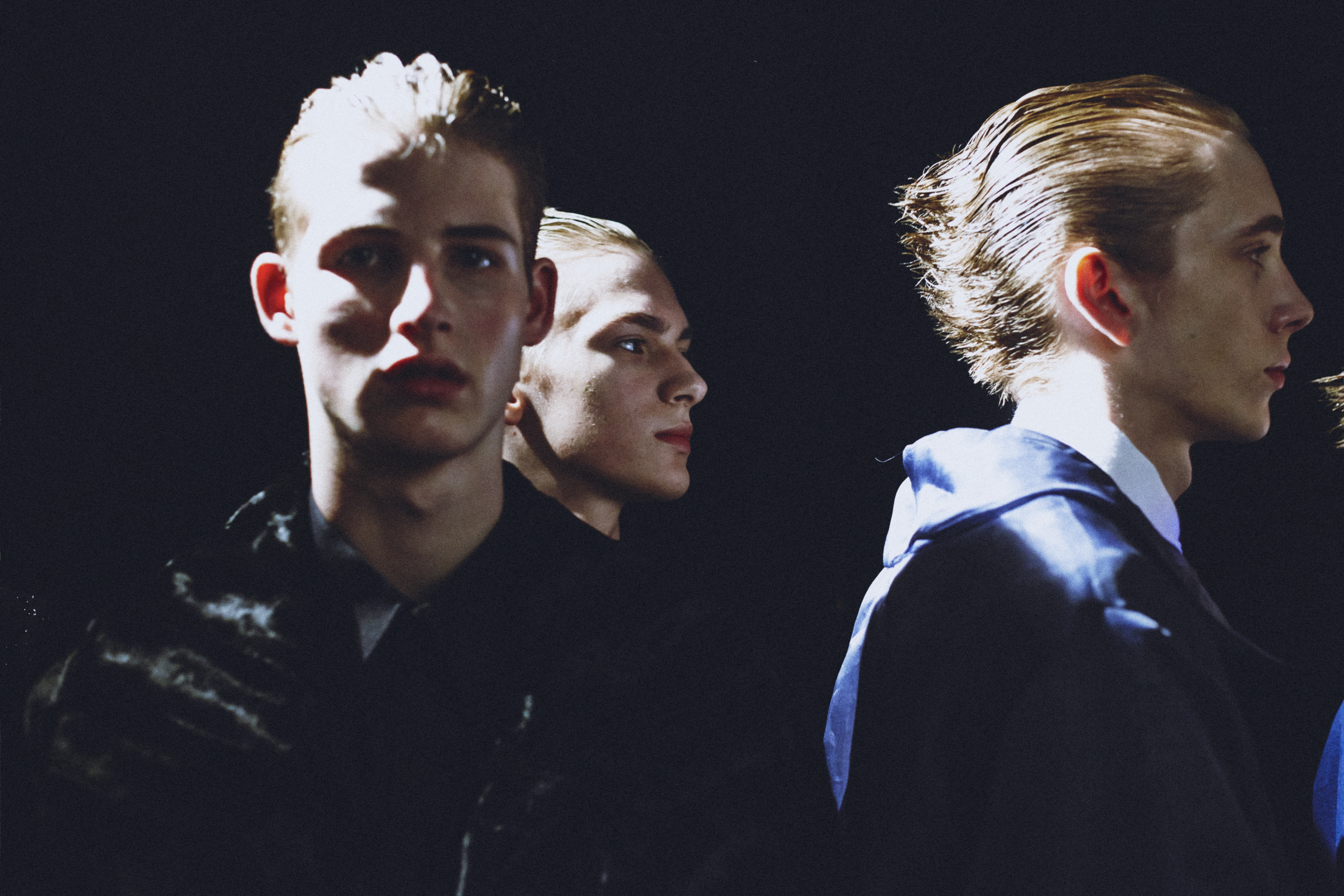 LCM AW14 HERO MAGAZINE BACKSTAGE ALAN TAYLOR HARRY CARR IMG_2625