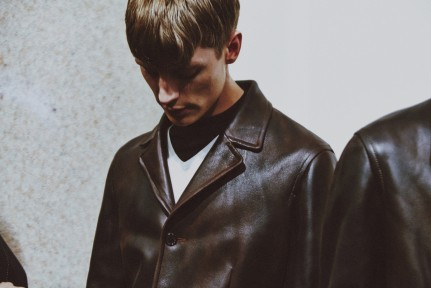 LCM AW14 HERO MAGAZINE NEIL BARRETT backstage LCM FW14 Look -24