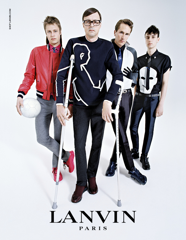 Left to right: Arthur, Roddy, Otis and Mateo in Lanvin's FW14 campaign
