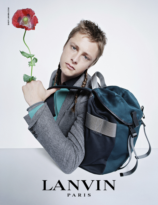Arthur Campbell in Lanvin's FW14 campaign