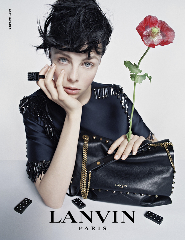 Edie Campbell in the Lanvin FW14 campaign