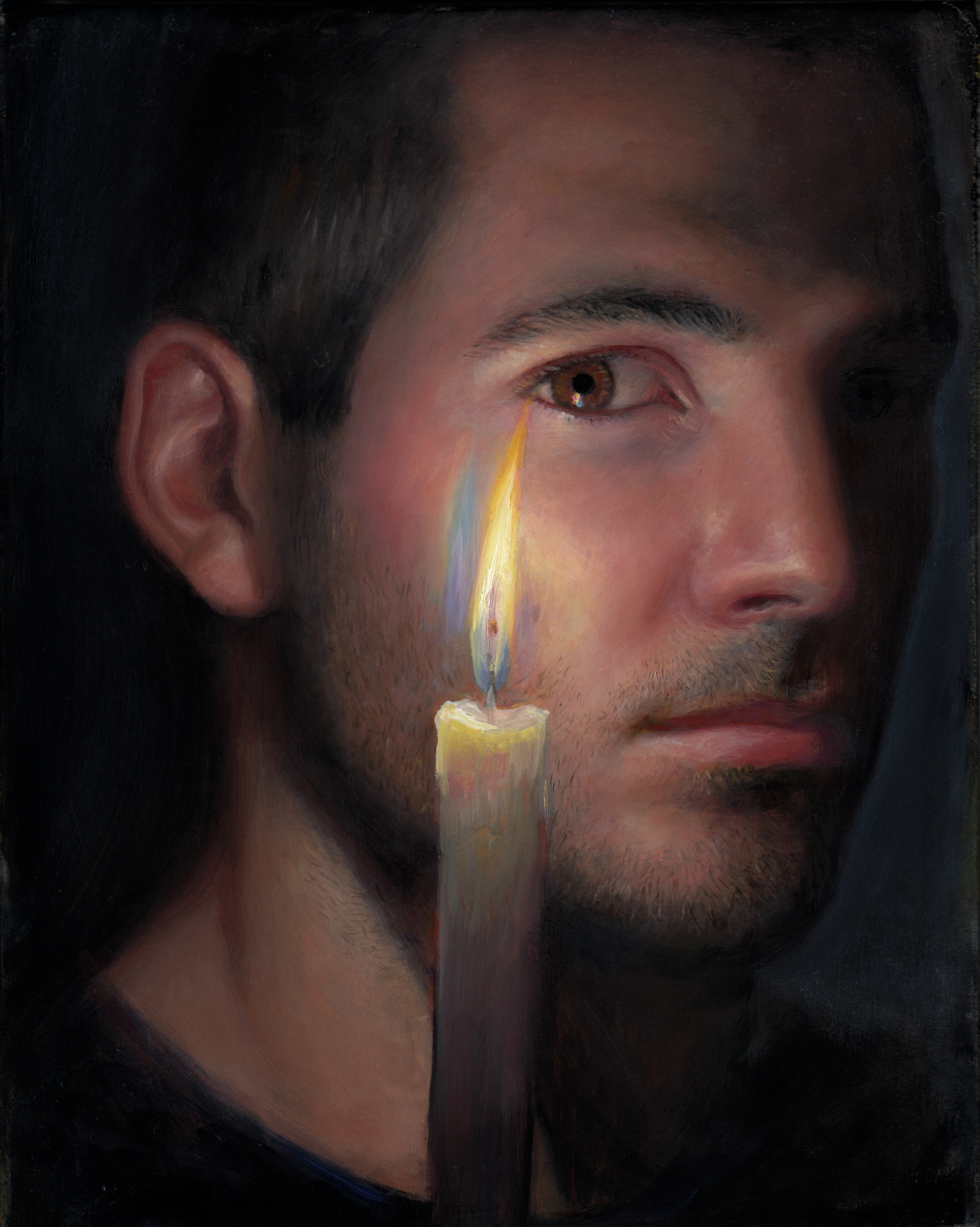 tm davy, candela (self), 10x8 inches, oil on linen, 2013-hero