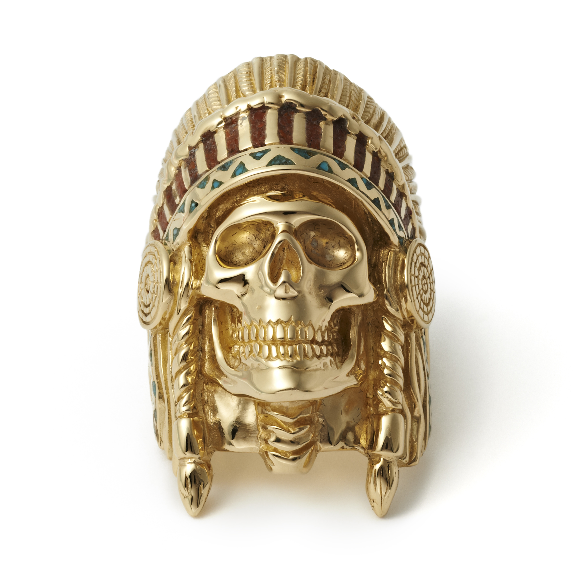 The Great Frog x Wes Lang 9-carat gold Skeleton Chief Ring