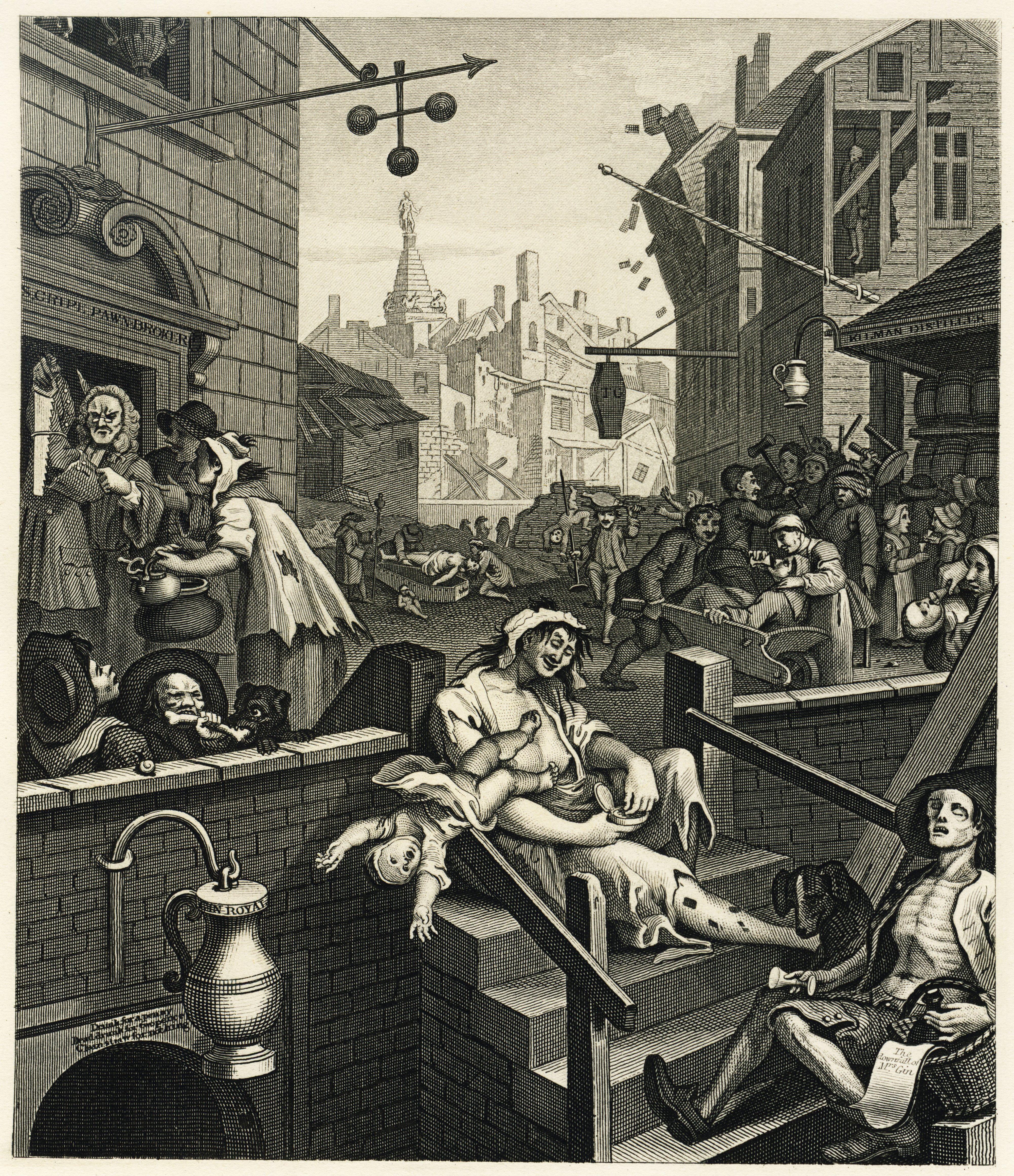 William_Hogarth_-_Gin_LaneHERO MAGAZINE WEEKEND COMBO HALLOWEEN EXCORSIST MUSIC EAT LONDON DEATH JAKE GYLENHALL DONNIE DARKO ART HOGARTH