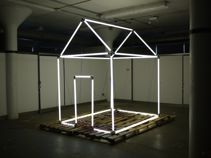 Installation for DLECTRICITY 2014. Image courtesy Sue de Beer