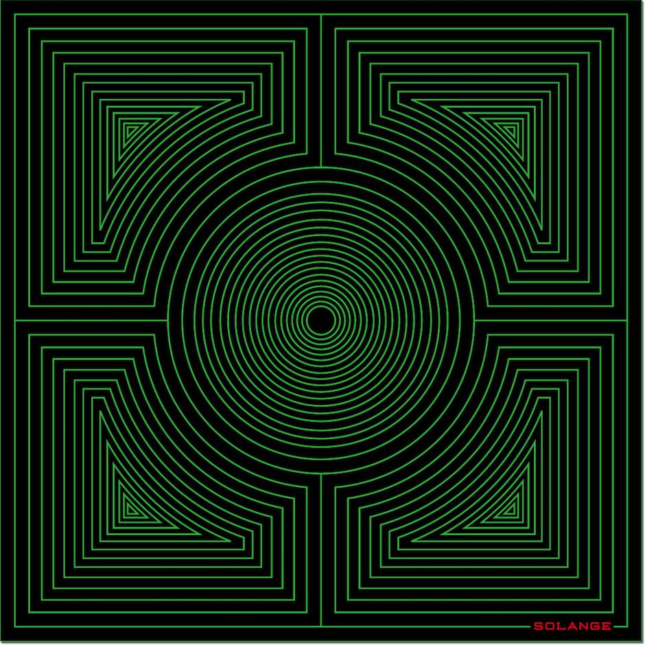 HERO CONSUME SOLANGE AZAGURY-PATRIDGE SQUARE GREEN HYPNOTIC RUG