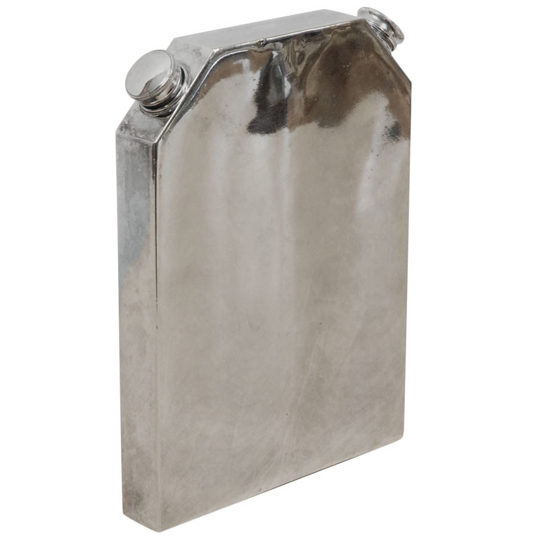 HERO CONSUME Vintage British Silver Plated Double Flask with Stamp