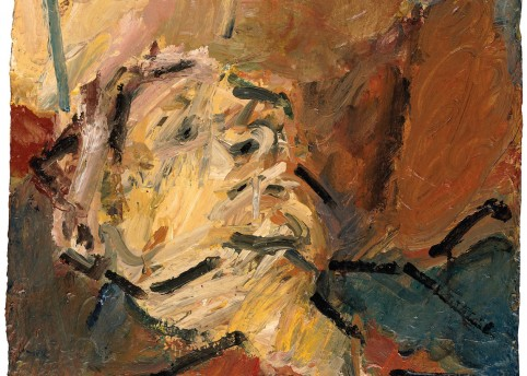"""Reclining Head of Julia II, 1997"", The Lewis Collection, © Frank Auerbach, courtesy Marlborough Fine Art."