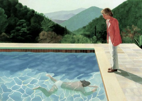 David Hockney; 'Portrait of an Artist (Pool with Two Figures)', 1971; private collection; © David Hockney