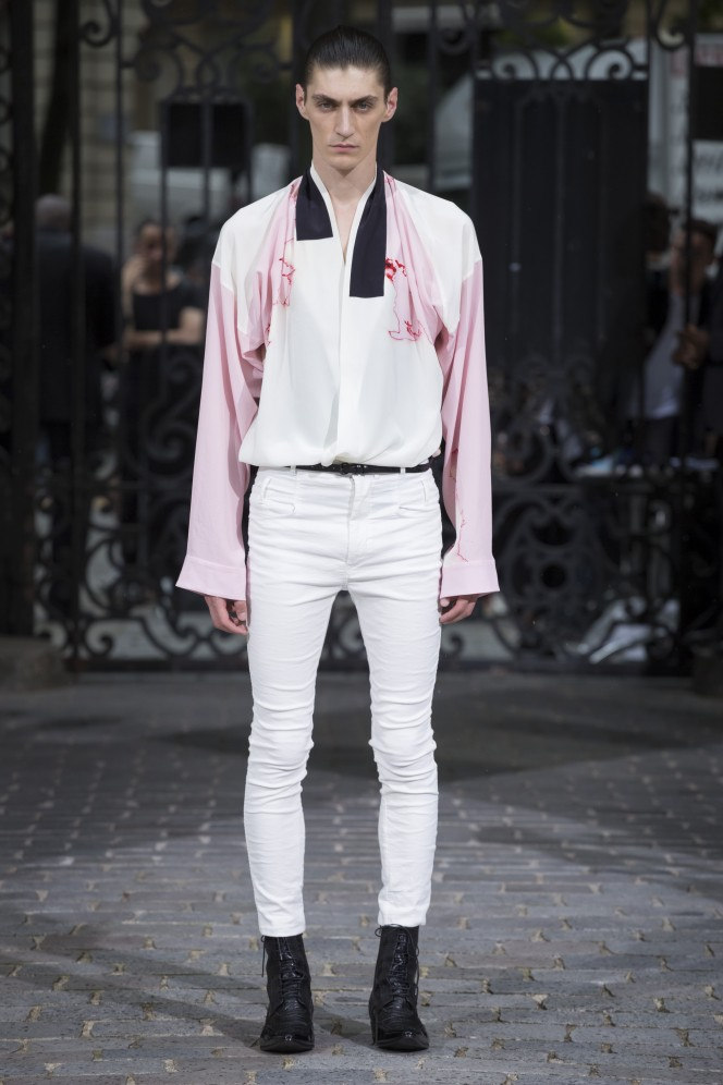 Haider Ackermann Fashion show, Menswear collection Spring Summer 2017 in Paris