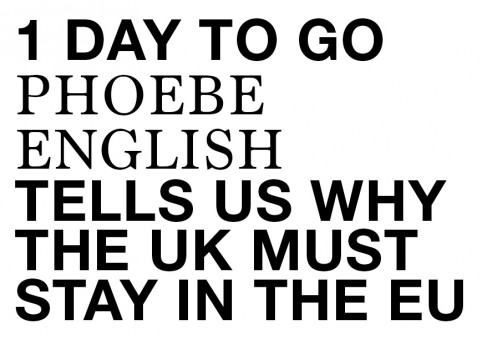 Phoebe English on why the UK should stay in the EU