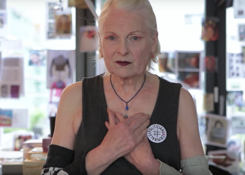 vivienne westwood message david cameron lead hero