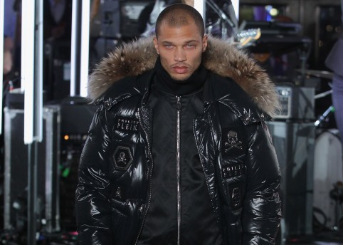 NEW YORK, NY - FEBRUARY 13:  Model Jeremy Meeks walks the runway wearing look #1 for the Philipp Plein Fall/Winter 2017/2018 Women's And Men's Fashion Show at The New York Public Library on February 13, 2017 in New York City.  (Photo by Thomas Concordia/Getty Images for Philipp Plein) *** Local Caption *** Jeremy Meeks