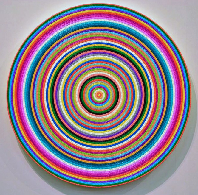Ekrem Yalcindag, Impressions, 2013, 80cm, oil on canvas on wood, Courtesy Ekrem Yalcindag and Galerie Karl Pfefferle