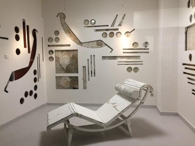 Jean Denant, LC4 Le Corbusier, 2015-2017, decoupe numerique sur medium satine blanc, Courtesy Galerie Anne de Villepoix