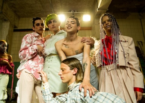 Backstage at Art School SS18. Photography Portia Hunt.