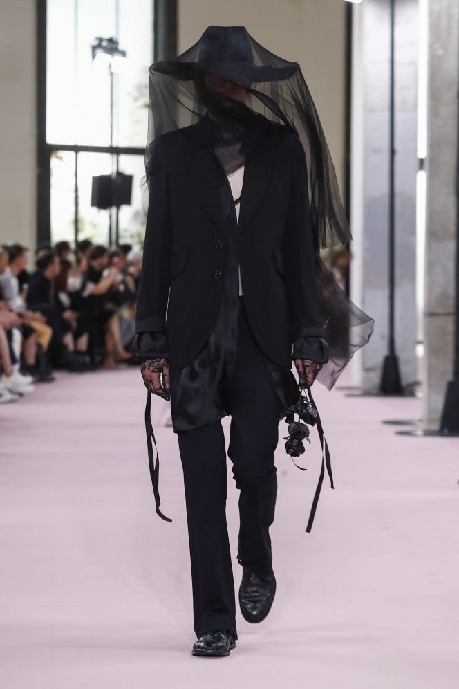 Ann Demeulemeester Menswear Collection Spring Summer 2019 Paris Fashion Week  NYTCREDIT: Guillaume Roujas / NOWFASHION
