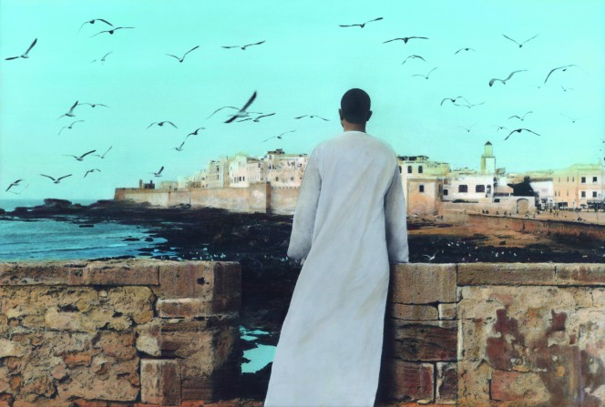 © Youssef Nabil. Courtesy of the Artist and Nathalie Obadia Gallery, Paris/Brussels Self-portrait, Essaouira, 2011
