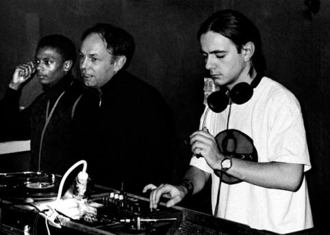 Jeff Mills, Dimitri Hegemann, and Laurent Garnier at Tresor