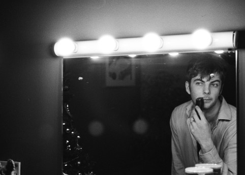 """Grian shaving before our show in Vicar Street, Dublin last December."""