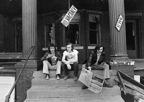 Lester Bangs, Dave Marsh, Barry Kramer / photography by Charlie Auringer