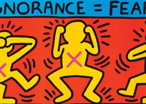Silence = Death (1989) © Keith Haring Foundation Collection Noirmontartproduction, Paris
