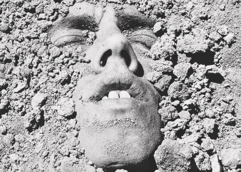 David Wojnarowicz, Untitled  (Face in Dirt),  1990