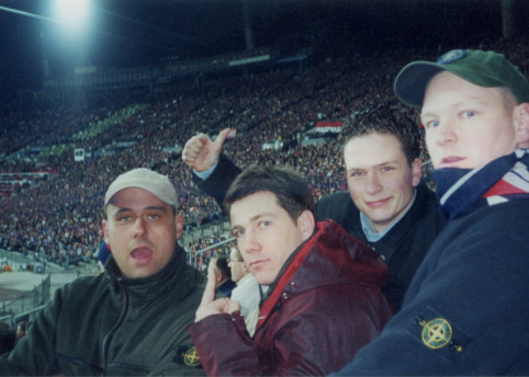 OLYMPIASTADION, MUNICH '000 ARSENAL F.C FANS, GERMANY PHOTO BY DRAX WD