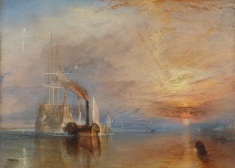The Fighting Temeraire tugged to her last berth to be broken up, 1838, Joseph Mallord William Turner, The National Gallery, London ©