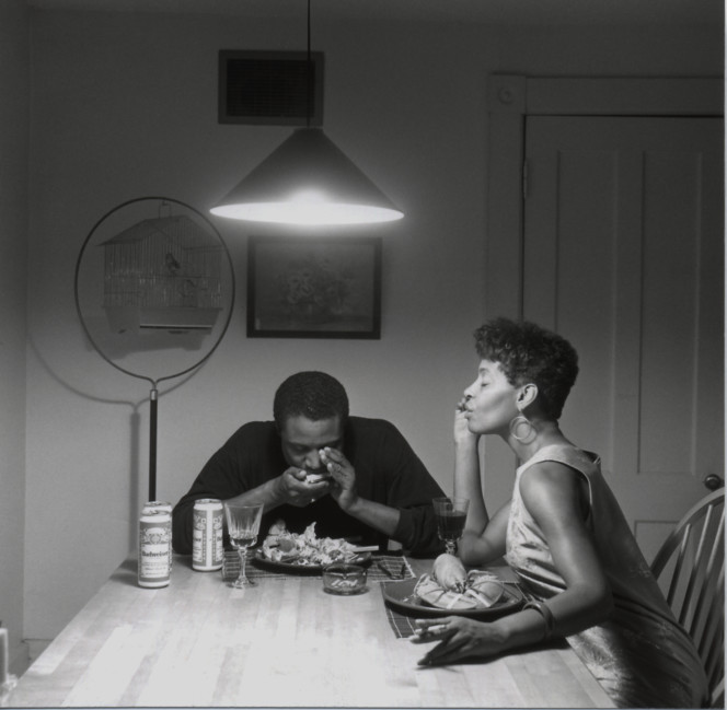 Carrie Mae Weems, Untitled (Playing harmonica) HHR