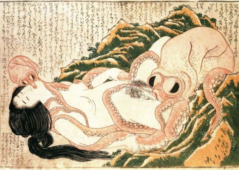 Katsushika Hokusai, The Dream of the Fisherman's Wife from Kinoe no Komatsu, ca. 1814