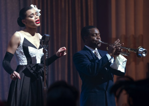 Andra Day and Kevin Hanchard in THE UNITED STATES VS. BILLIE HOLIDAY from Paramount Pictures. Photo Credit: Takashi Seida.