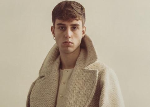 The 'Ryder' slubbed wool tennis coat.